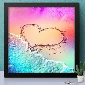 Heart Shape on Beach