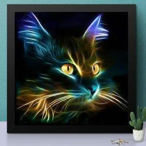 Abstract Cat Art