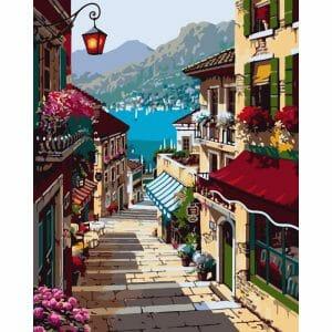 Amazing City Near the Lake