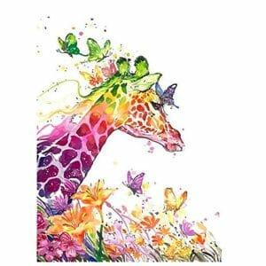 Giraffe and the Butterflies