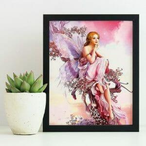 Beautiful Angel in Pink Dress