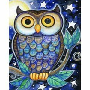 Amazing Owl - Abstract Art