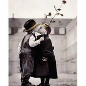 Cute Kids Kissing