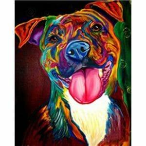 Amazing Colorful Dog