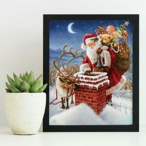 Santa with his wish box