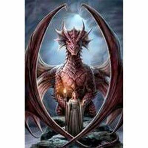 Dragon and Beautiful Girl