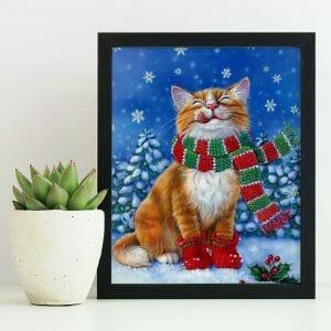 Cat enjoying Winter Season