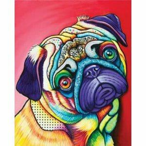 Amazing Colorful Pug