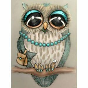 Amazing Owl Abstract Art