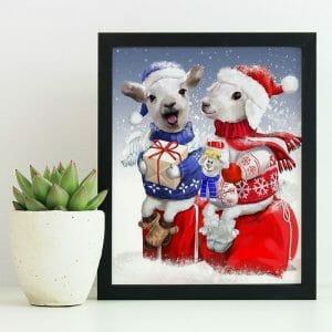 Cute Friends Celebrating Christmas