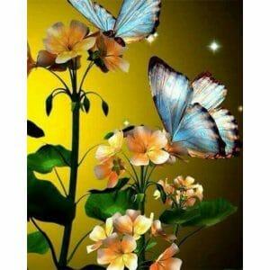Butterflies on Golden Flowers