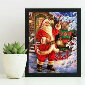 Snowfall and Santa