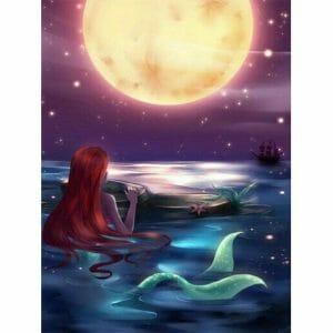 Mermaid looking at the Sun