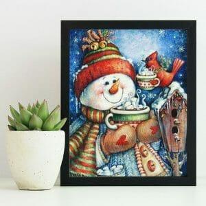 Sparrow and Snowman
