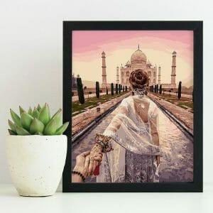 Couple Visiting the Taj Mahal
