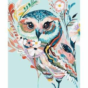 Mosaic Art of an Owl