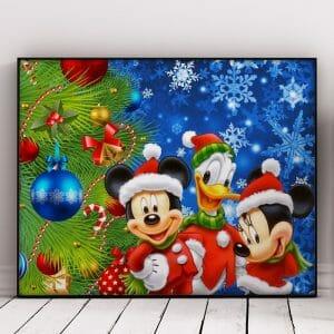 Christmas Tree And Cartoon