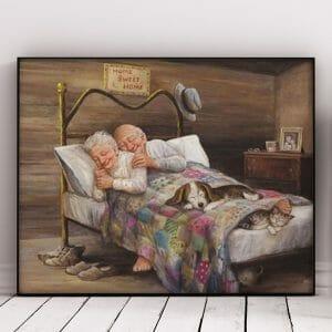 Romantic Old Couple