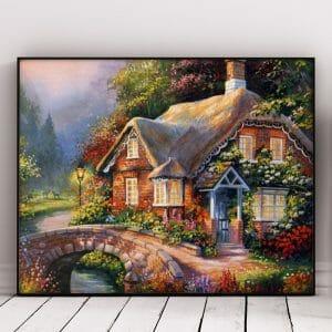 Beautiful House Near Bridge