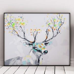 Abstract Reindeer