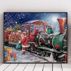 Train of Gifts and Santa