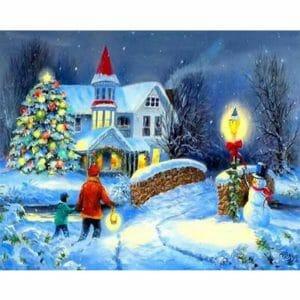 Christmas Eve and snow