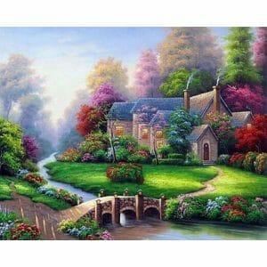 Beautiful House and Green Garden