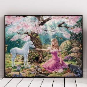 Girl And Baby Unicorn