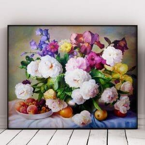 Multicolor Flowers in Vase