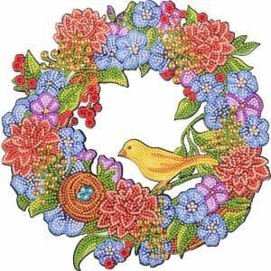 Golden Sparrow - Diamond Painting Wreath