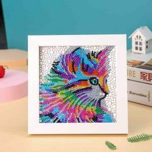 Colorful Cat - Diamond Art