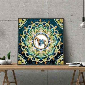 Amazing Mandala art with horse