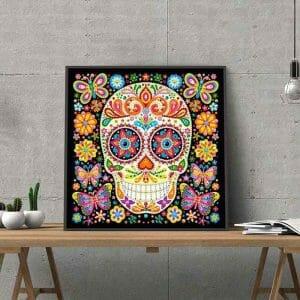 Amazing Skull - Luminous diamond art