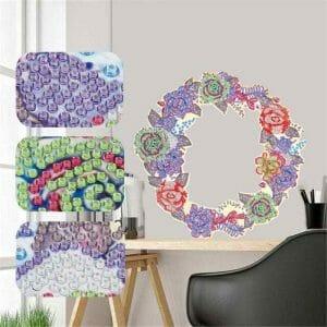 Beautiful Flowers - Diamond Painting Wreath
