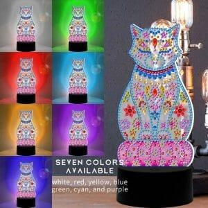 Beautiful Cat - Diamond Painting Lamp