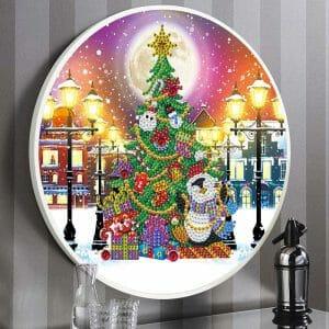 The Christmas Tree - Round Frame