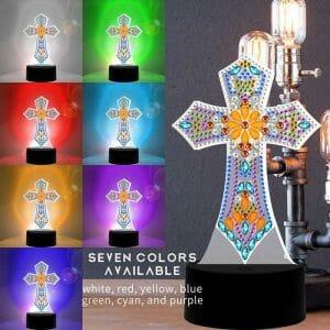 The Cross - Diamond Painting Lamp