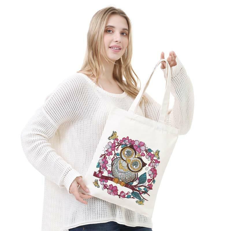 The Cute Owl - Diamond Painting Bag