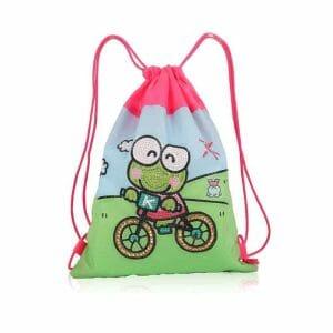 Frog on Bicycle - Diamond Art Bag (8)