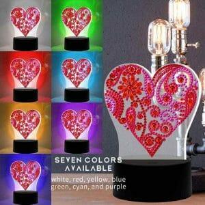 Heart - Diamond Painting Lamp