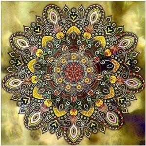 Mandala Art - Yellow