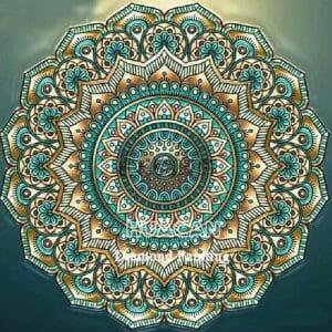 Beautiful Mandala Art - Green