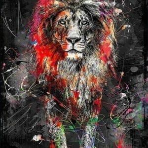 Color Splash - Lion