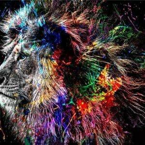 Color Splash Lion Diamond Art