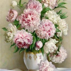 Amazing Flowers in White Vase