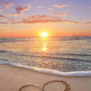 The Heart on Beach