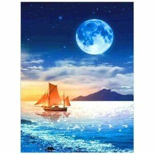 Moon and the Beach
