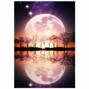 Beautiful Moon Reflection