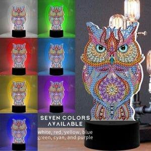 Owl - Diamond Painting Light