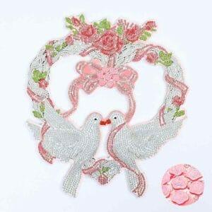 Pigeon Couple - Diamond Painting Wreath